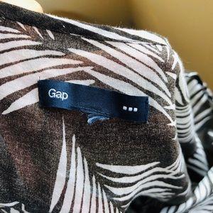 GAP Tops - Gap Tropical Print Cotton Voile Tunic